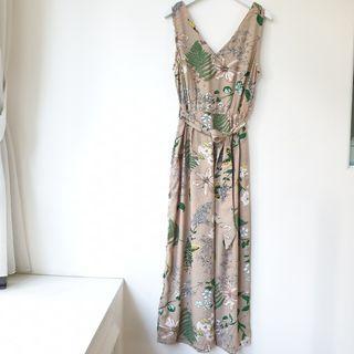 Floral Jumpsuit with sash