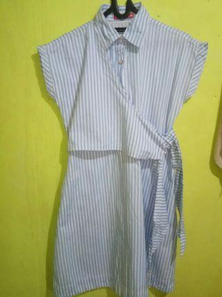 Miyoshi blue stripe mididress
