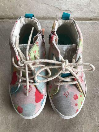"""Zara Baby """"All you need is ice cream"""" high cut shoes"""