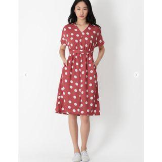 BNWT AFA Genevieve polka dot dress in rosewood