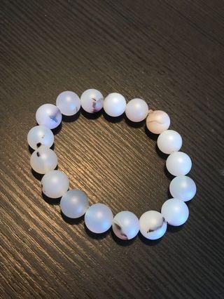 Matte white beads bracelet