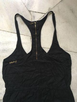 Billabong black sleeveless jumpsuit #