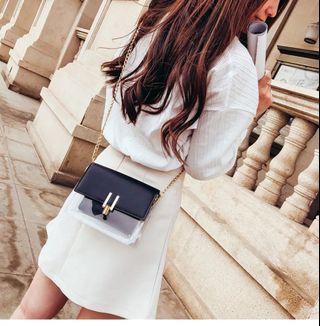 [ Handbag Set ] Fashion 2 in 1 Transparent Sling bag Set #handbag # slingbag #handbagset #slingbagset