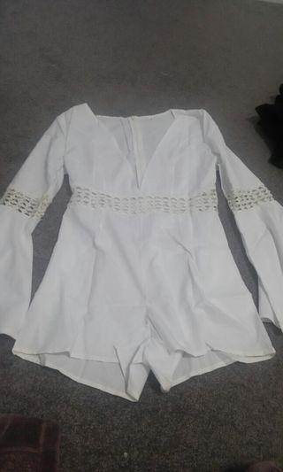 Womens size S dress white