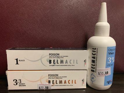 Belmacil eyebrow eyelash tint & developer oxydant visco