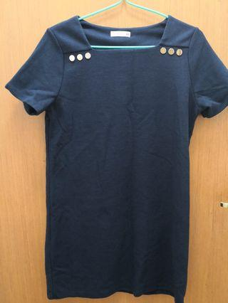 (2 for $15) Patch Blue Dress