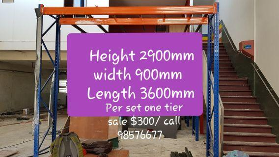 Heavy duty racking very new condition . Available stock many  set call 98576677 thanks.