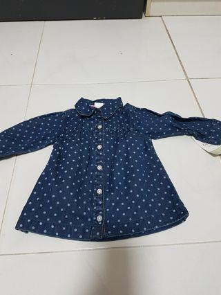carters shirt/jacket poka dots