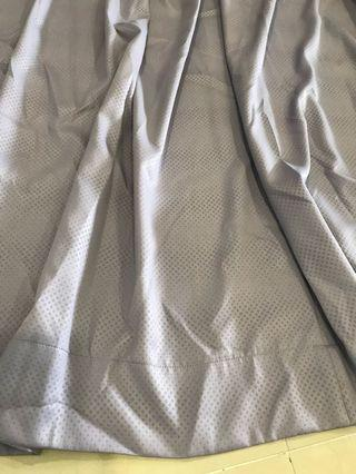 Purple Gray Curtains (2 sides)