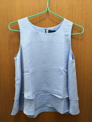 (2 for $15) The Closet lover Layered Hem top in sky blue