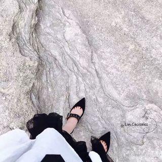 🚚 Charles&keith 金屬鉚釘穆勒鞋平底鞋