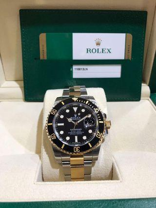 Rolex Submariner 116613LN Steel/ Gold.