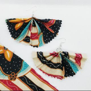 Batik Fan Earrings