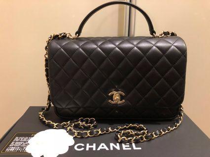 *reduced!* Chanel flap black lambskin gold hardware