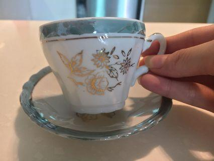 Vintage JAPAN Made Fine China Tea Cup with Saucer (RM80 per Set)