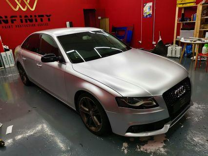 CAR WRAP IN SATIN SILVER PROMO