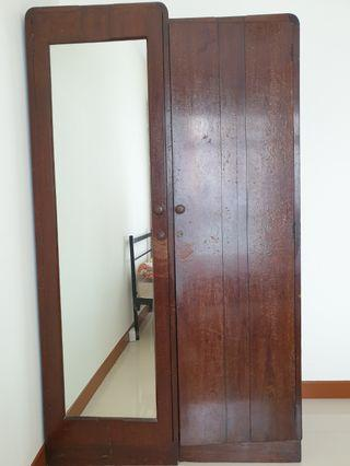 Antique solid teak wood wardrobe. VERY HEAVY.