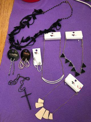 Necklaces and ear rings, all just for $10