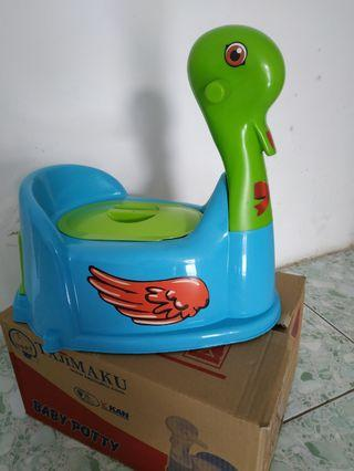 Potty training bebek
