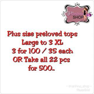 Plus size Preloved tops on sale