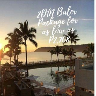 2D1N Baler Bay Tour Package for as low as P2,708 per person