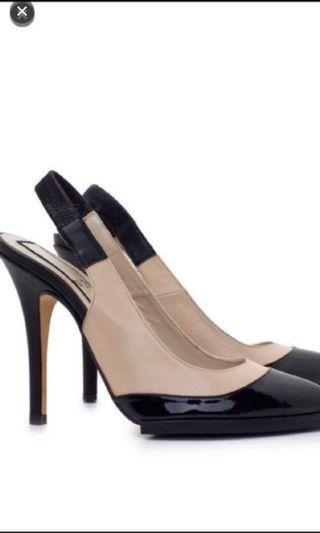 No 21 black nude heels shoes