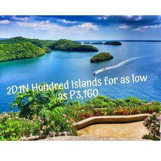 2D1N Hundred Islands + Bolinao Tour Package for as low as P3,706 per person