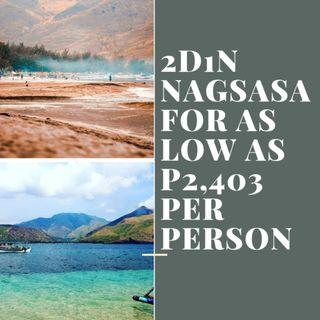 2D1N Nagsasa + Anawangin Cove Tour Package for as low P2,403 per person
