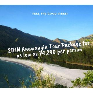 2D1N Anawangin Tour Package for as low as P4,290 per person