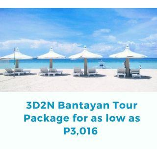 3D2N Bantayan Island Tour Package for as low as P3,016  per person