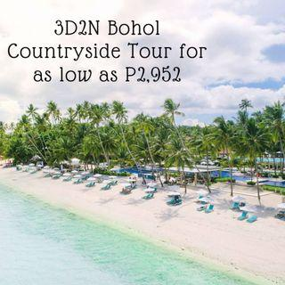 3D2N Bohol Tour Package for as low as P2,952 per person