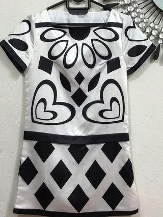Black&white top (knee lenght)
