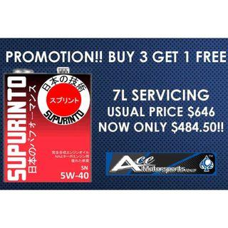 [Buy 3 Free 1] Servicing Package - Supurinto SN 5W40