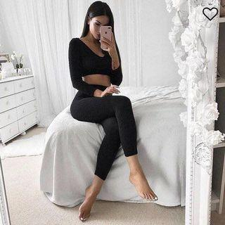 FASHION NOVA Wanderlust XS/S Black Leggings