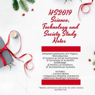 🚚 NTU HS2019: Science, Technology and Society Study Notes Finals Revision