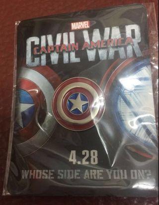 (包郵)Marvel Captain America 襟章