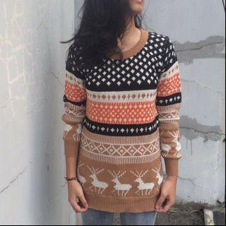 Mix Color Knitted Sweater