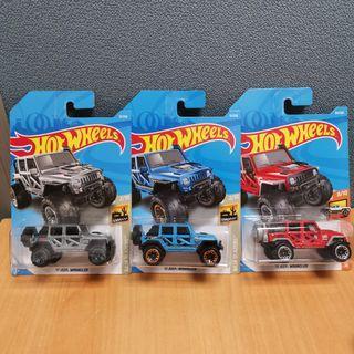 Hot Wheels BAJA BLAZERS 17 JEEP WANGLE silver, blue & red
