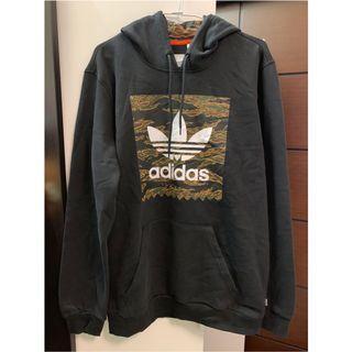 🚚 Adidas 三葉草帽T 男版M號