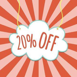 20% OFF on bundle items!!!!