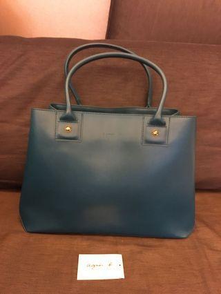 Agnes b leather hand bag (L) 真皮大手袋