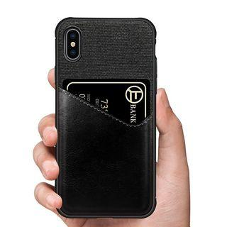 iPhone Case Card Holder Cloth Leather Back Case iPhone Case