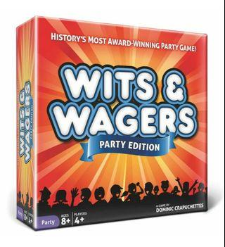 Wits and Wagers Party Edition Board Game