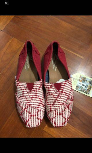 Toms red color size 6 shoes 紅色布鞋 #mtrKT