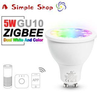 GLEDOPTO rgb and dual white 5W GU10  Zigbee work with Philips Hue, Amazon Alexa Plus and IKEA