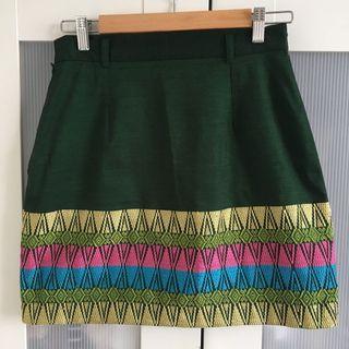 Handmade Green Skirt
