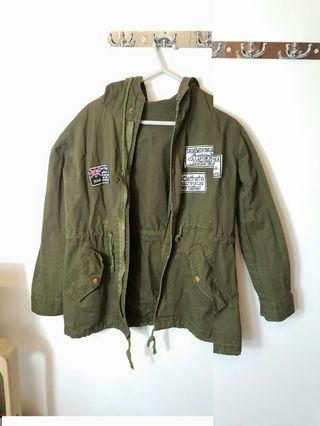 軍綠色外套 軍褸 女裝外套