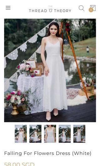 Flower Dress in White #AmplifyJuly35