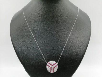 18karat Diamond Necklace white gold and real diamonds