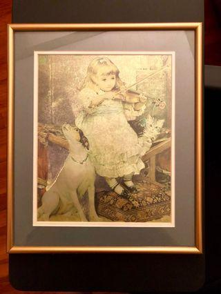 Painting with Gold Frame